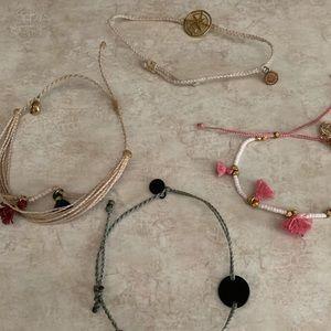 Lot of 4 pura vida bracelets